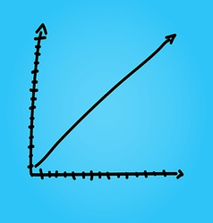 Hand draw arrow graph graphic eps10 vector image
