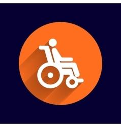 Handicap handicapped chair wheel accessible an vector