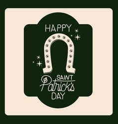 poster happy saint patricks day of emblem with vector image