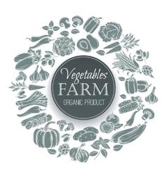 vegetables round banner vector image