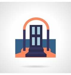 Front door colored flat icon vector image vector image