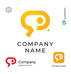 social communication service digital logo modern vector image