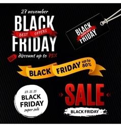 Black friday sale design elements inscription vector image vector image