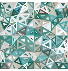 Blue and gray mottled abstract triangles vector image vector image