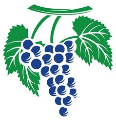 grapes symbol vector image