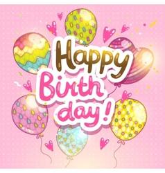 Happy Birthday card background vector image