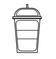 soft cold drink icon vector image