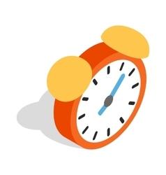 Alarm clock icon isometric 3d style vector image