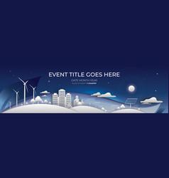 Alternative energy backdrop design vector