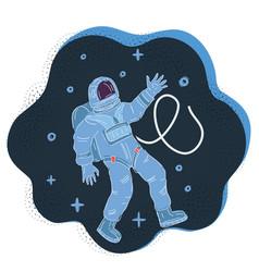 Astronaut in a spacesuit vector