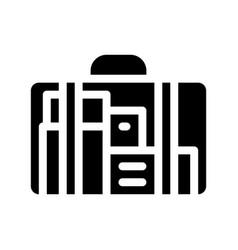 Bag for maternity hospital icon glyph vector