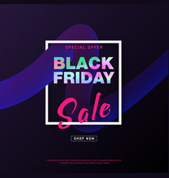 black friday banner shopping discount promotion vector image
