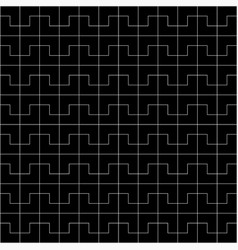 black geometric pattern background vector image