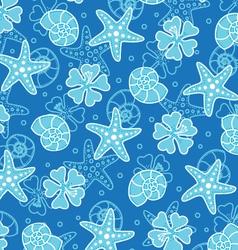 blue shells vector image