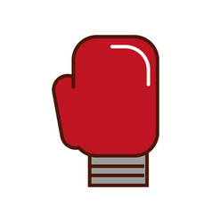 brightly boxin glove cartoon vector image
