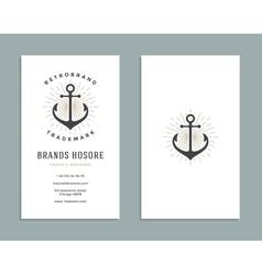 Business Card Design and Retro Logo Template vector