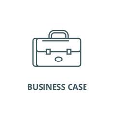 business case portfolio sign line icon vector image