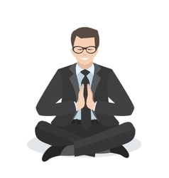 Business man in a yoga pose vector image