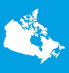 canada map icon white vector image