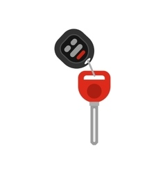 Car key icon flat style vector image