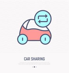 car sharing thin line icon vector image