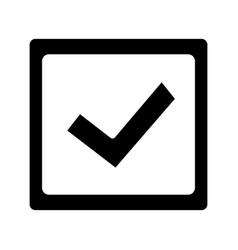 Checkbox glyph icon vector