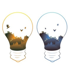 City in a Lightbulb6 vector image