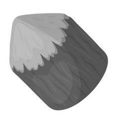 Conical log canada single icon in monochrome vector
