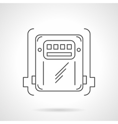 Counter box thin line icon vector