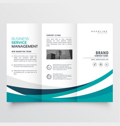 creative business trifold brochure design template vector image