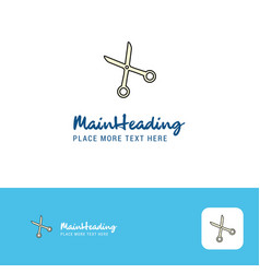 creative scissor logo design flat color logo vector image