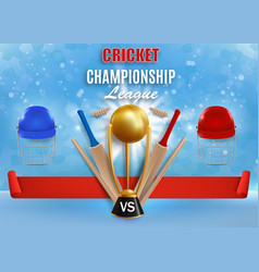 cricket game championship poster banner vector image