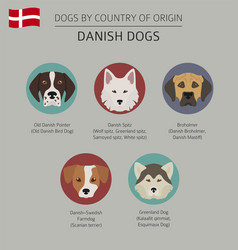 Dogs by country of origin danish dog breeds vector
