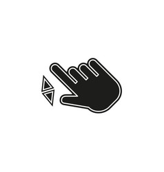 double tap finger - pointer icon - cursor vector image