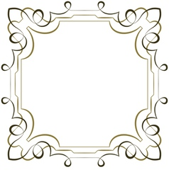 Elegant square multilayer frame on white vector