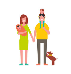 Family parents with children vector
