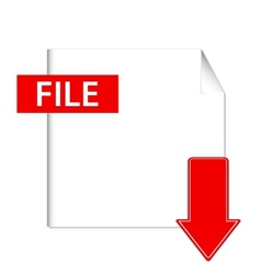 file download button vector image