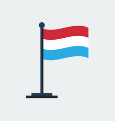 flag of luxembourgflag stand vector image