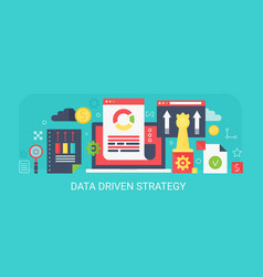 flat modern concept data driven strategy vector image