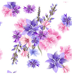 floral seamless pattern with field flowers vector image