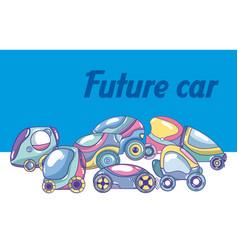 Future car cartoon vector