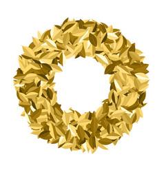 Golden leaf symbol triumph vector