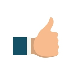 hand like thumb up vector image