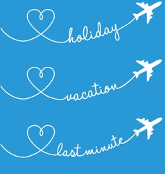 holiday vacation flying set vector image