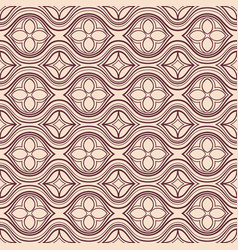 Horizontal brown and beige floral pattern vector