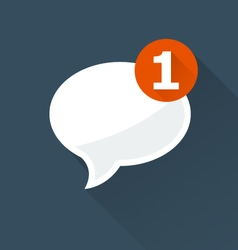 Incoming message notification icon vector