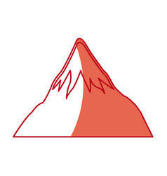 Japanese mount fuji landmark natural ecology vector