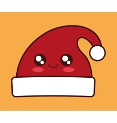 Kawaii hat of Christmas season design vector