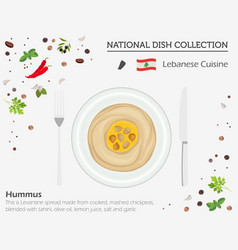 Lebanon cuisine middle east national dish vector