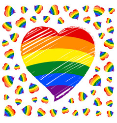 lgbt flag heart template vector image